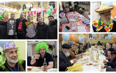 """Purim In Kishinev, colorful packages of """"Mishloach Manos"""" were distributed all over the city"""