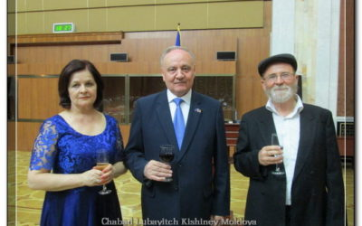 President of Moldova Meets New Chief Rabbi