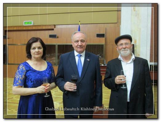 President of Moldova Meets New Chief Rabbi
