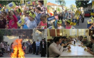 Hundreds of Moldovan Jews: men, women and children. Took part in the Lag B'Omer events