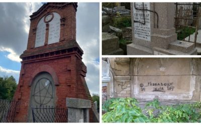 Anti Semitic Vandalism at Jewish Cemetery in Kishinev, Moldova
